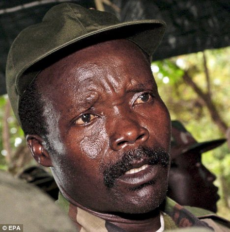 Target: Mr Russell's video is aimed at Ugandan rebel leader Joseph Kony
