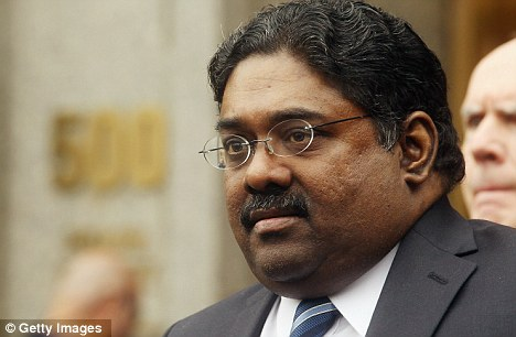 Secrets: The Goldman Sachs worker was thought to be leaking secrets to Galleon Group founder Raj Rajaratnam (pictured)