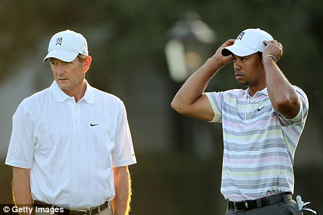 Spilling the beans: Swing coach Hank Haney (left) paints a less than flattering picture of golf pro Tiger Woods (right)