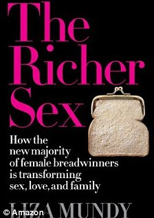 Cultural commentator: Liza Mundy (pictured left) based her new book, The Richer Sex (right), on new evidence that single women in their twenties earn more than their male peers