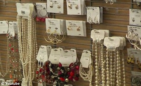Fatal attraction: Scientists have found high levels of toxic metals in cheap high street jewellery targeted at children