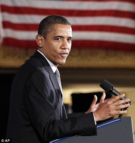 Campaign mode: Mr Obama has been fighting allegations that he has been trying to promote socialist policies throughout his term in office