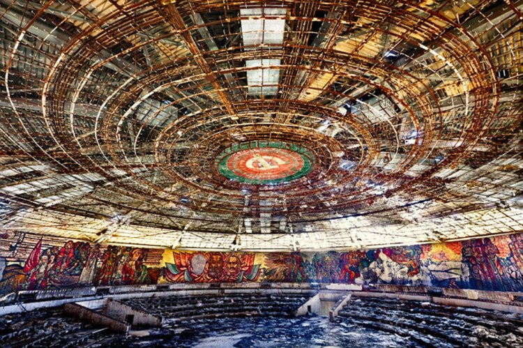 Strewn with litter and ransacked by thieves, warmer weather shows the dome's interior to be in urgent need of repair