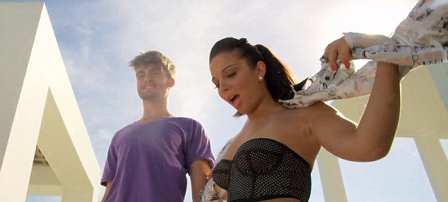 Fun times: The singer can be seen in the video having a party and getting up to mischief with her friends