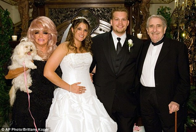 Accused: Brittany Koper, center, recently filed a suit accusing the Trinity Broadcasting Network, its founders Janice Crouch (left) and Paul Crouch Sr (far right), in squandering $50 million of its funding