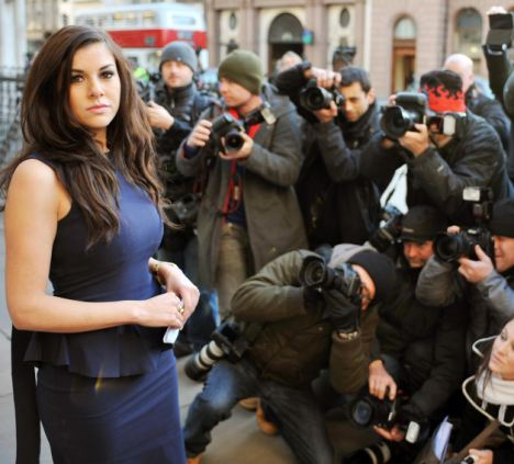 Imogen Thomas outside the High Court in December, when Ryan Giggs accepted that there was no basis to accuse the reality star of blackmail