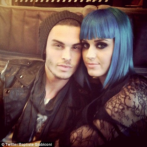 Jealous much? Katy Perry's new boyfriend Baptiste Giabiconi tweeted this photo of them together on Sunday