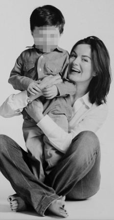 Ordeal: Lucy Allan with her adored son, whose identity we are protecting