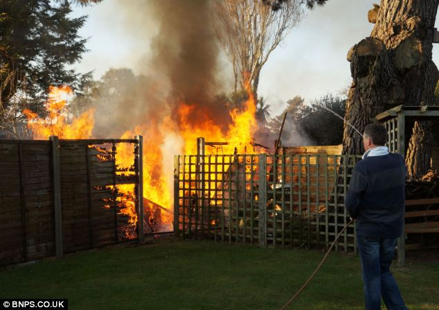 Pensioner 88 accidentally torches FOUR gardens as he starts huge blaze while trying to burn