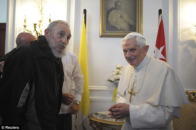 Animated meeting: Cuban leader Castro asked the Pope for a 'few minutes of his time' after he said mass in Havana, Cuba
