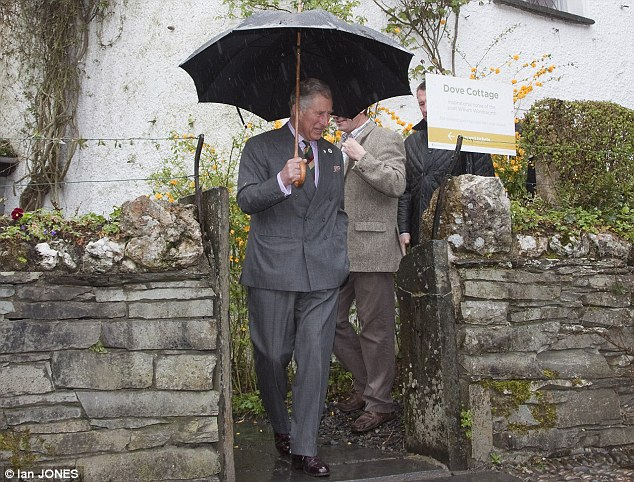 The Prince of Wales, Patron, the Wordsworth Trust, tours Dove Cottage and view key pieces from the Wordsworth Trust collection and meet staff and volunteers in the Wordsworth Museum, Grasmere, Cumbria.
