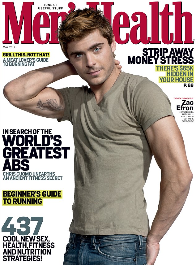Does Zac Efron Have Tattoos : efron, tattoos, Efron, Shows, Touched-up, Feather, Tattoo, Incredibly, Muscular, Right, Bicep, Men's, Health, Cover, Daily, Online