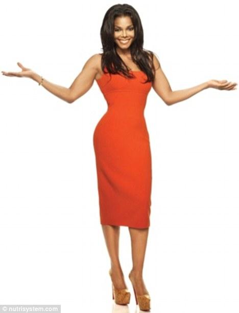 Verifique-me: Um recém-esbelto Janet Jackson mostra sua figura guarnição em uma foto promocional para o seu anúncio Nutrisystem