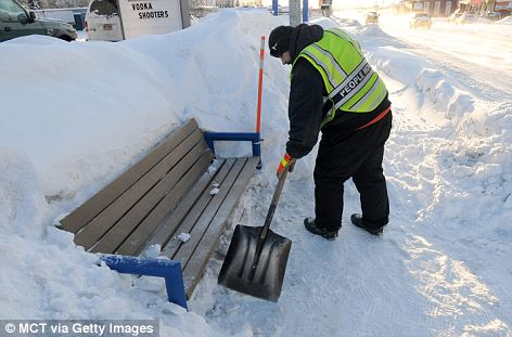 Unexpected: Before a dumping of wet snow Friday, none had fallen since mid-March. The halt gave residents a chance to clear their snow-laden roofs and city crews an opportunity to widen streets squeezed by mountains of snow