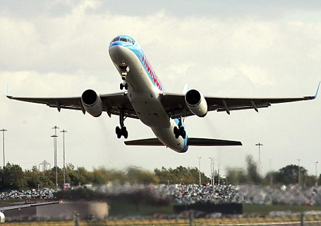 Left behind: Several passengers missed their Thomson flight after not being told of the changes to the departure time