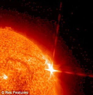 A solar flare in March: Larry Halls says one of his big fears are flares from on-high