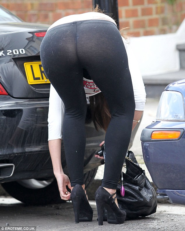 Just Casually Adjusting Her Shoes The Welsh Model Bent Over In Full View Of Passersby