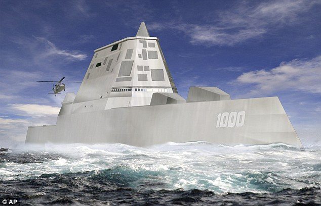 Resembling a 19th century ironclad warship the USS Zumwalt uses a 21st century version of a 'tumblehome' hull