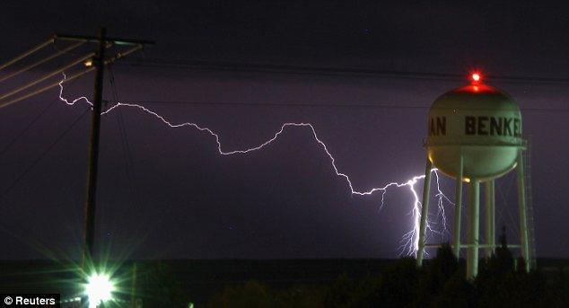 Strike: Lightning was hitting Nebraska days before the expected outbreak of violent storms