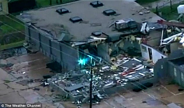 Devastation: 19 people were sent to hospital with minor injuries after the Oklahoma tornado