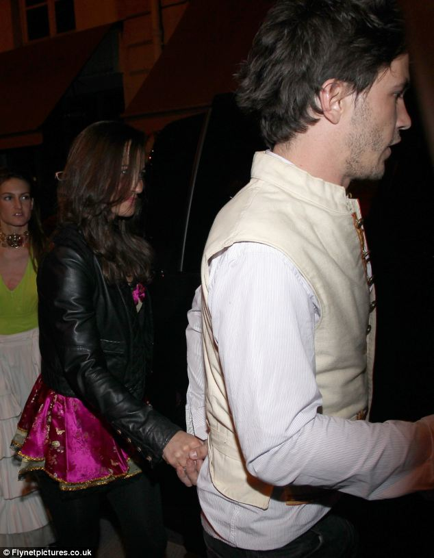 Hand in hand: Pippa Middleton and Antoine de Tavernost, the son of French TV CEO Nicolas de Tavernost