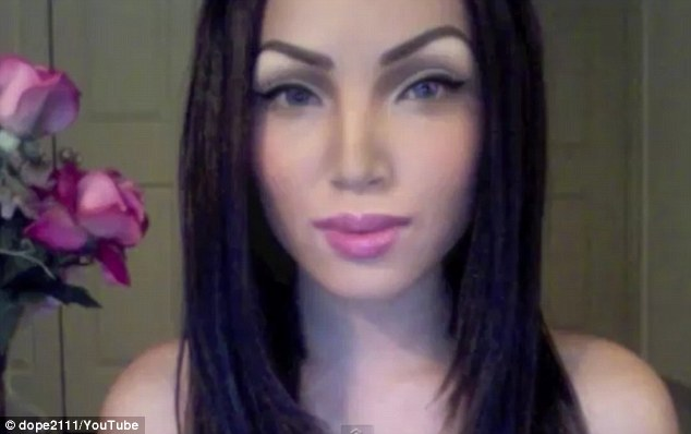 Transformer: High-arched brows and winged eyeliner finish a Megan Fox look