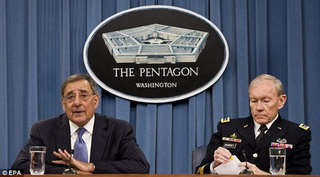 'Embarassed': Leon Panetta, left, and General Martin Dempsey, right, have promised to investigate the military's role in the scandal
