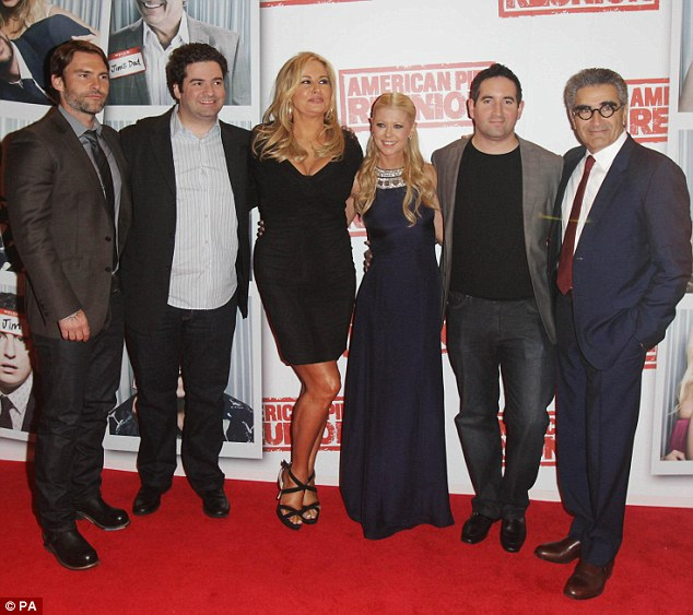 The gang: Seann William Scott and Eugene Levy take a trip from Hollywood to the Savoy Cinema in Dublin