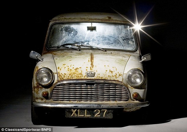 Despite its run down condition this 1950s Mini is expected to fetch thousands at auction