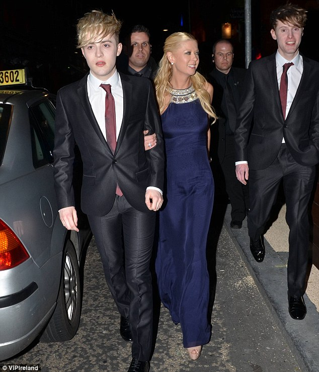 Heading home: Kevin was seen following along as Edward and Tara left the afterparty