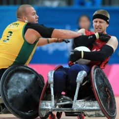Wheelchair Olympics Antique Accent Chairs Great Britain Claim Silver In Rugby Olympic Test Event S Aaron Phipps Holds Off Australia Ryley Batt
