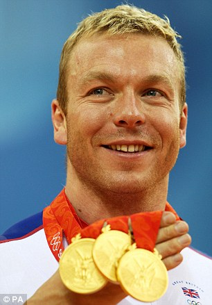 Golden Hoy: Sir Chris with his Beijing Olympic medals