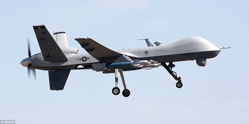 Killer: Some of the drones owned by the military might be the MQ-9 Reaper, which has been used to target terrorists overseas