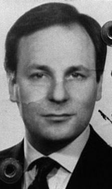A police photo of Enrico De Pedis from the mid-Eighties