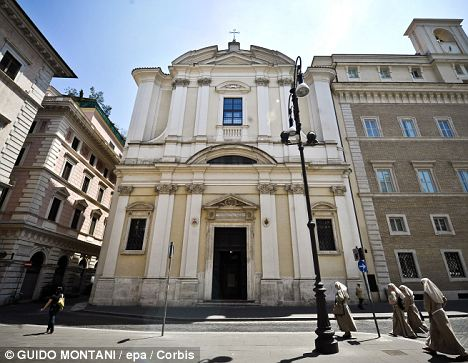 Holy ground: The Basilica of Sant'Apollinare in Rome, where mobster Enrico De Pedis is interred. Police will open his grave as part of an investigation into a missing person case