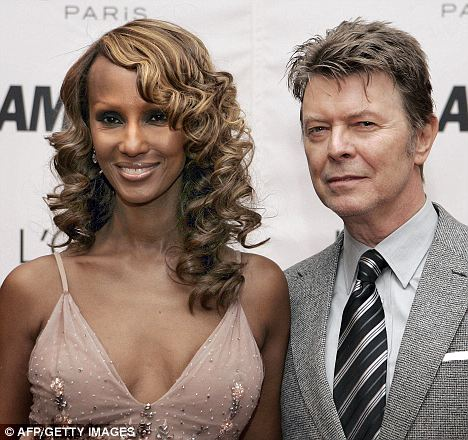 Increase: There has been a 28 per cent rise in the number of interracial marriages in the U.S. Somali-born model Iman has been married to David Bowie for 20 years and they live in New York and London