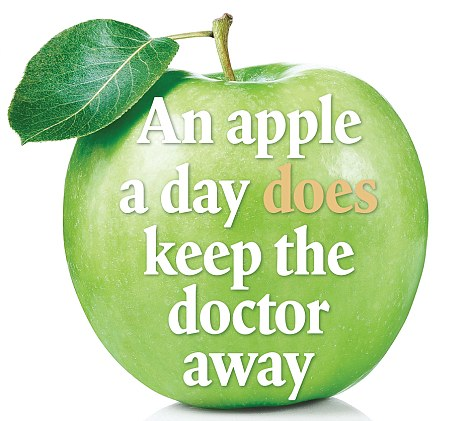 An apple a day does keep the doctor away