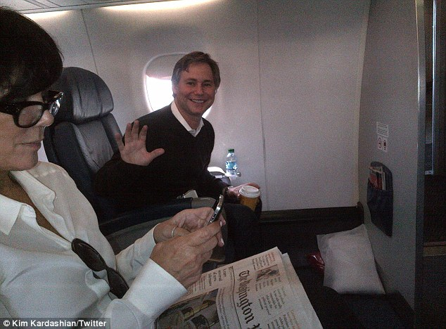 Surprise: Kardashian tweeted about Jason Binn being on her flight from Washington D.C