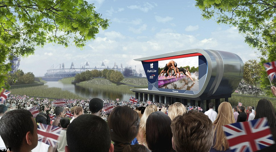 Spectacle: Park Live will feature a giant screen which is the size of two double-decker buses. Up to 10,000 people will be able to soak up the atmosphere in the shadow of the Olympic stadium