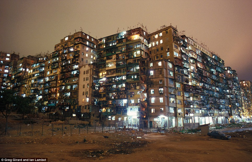 The city, lit up during the night, was the scene of the 1993 movie Crime Story starring Jackie Chan and includes real scenes of buildings exploding