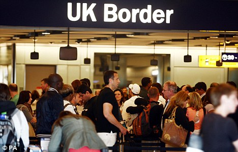 Controversy over border controls: The row is through to have spread from Heathrow, where queues of up to three hours were reported last week (file photo)