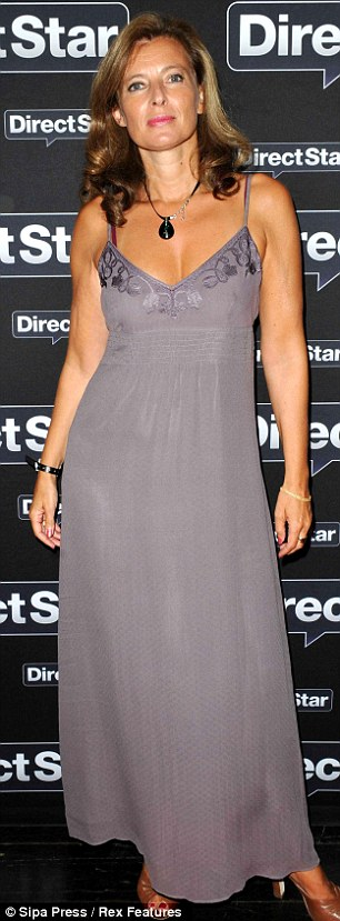 Glamour: Valerie Trierweiler at the opening of Direct Star in Paris in September 2010
