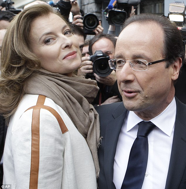 Ms Trierweiler, the partner of Mr Hollande, has become the first unmarried 'Premier Dame' in French history