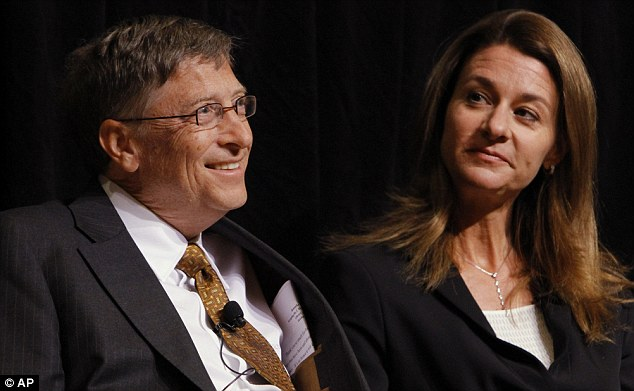 Melinda Gates, right, appears with her Microsoft Founder husband Bill during one of their many duties with the Gates Foundation, which is now focusing on making contraception a global issue