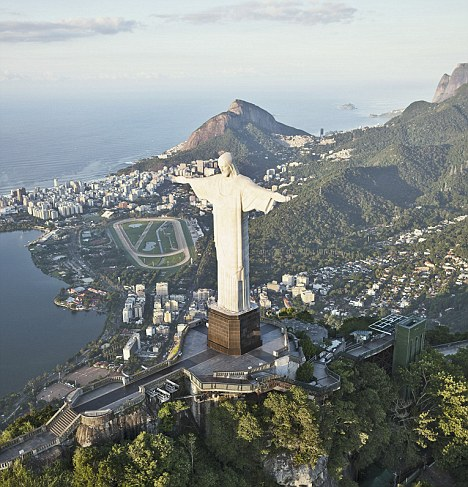 One of the world's most famous monuments to Christianity is the 130ft statue of Christ the Redeemer in Rio de Janeiro.
