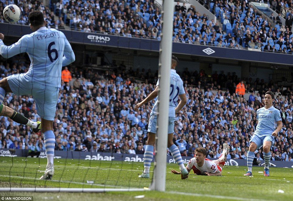 Incredible: Jamie Mackie nods home QPR's second goal at Manchester City in unbelievable scenes