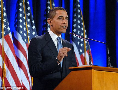 Damage control: After Rev Wright's sermon went viral, Mr Obama gave a speech condemning Mr Wright's political remarks