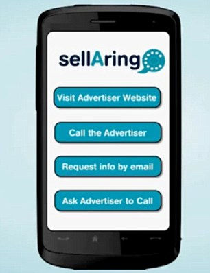 The advertising network also provides a full-screen advert at the end of the call