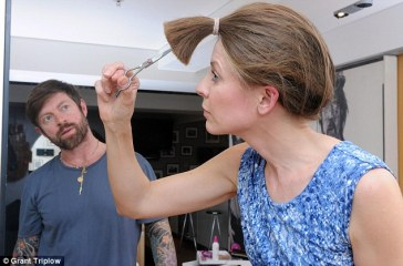 Step-by-step guide: Alice cut her hair under the expert eye of celeb hairdresser Lee Stafford who says it's so easy, anyone can do it