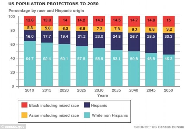 Image result for white minority projection